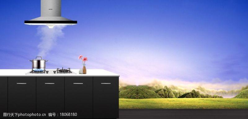 廚房燃氣灶廚房場景圖圖片
