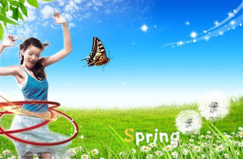 春季宣传海报素材模板