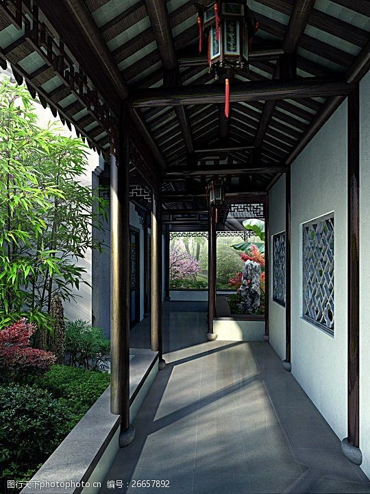 中国古典园林景观图片素材平面设计建议风格图片