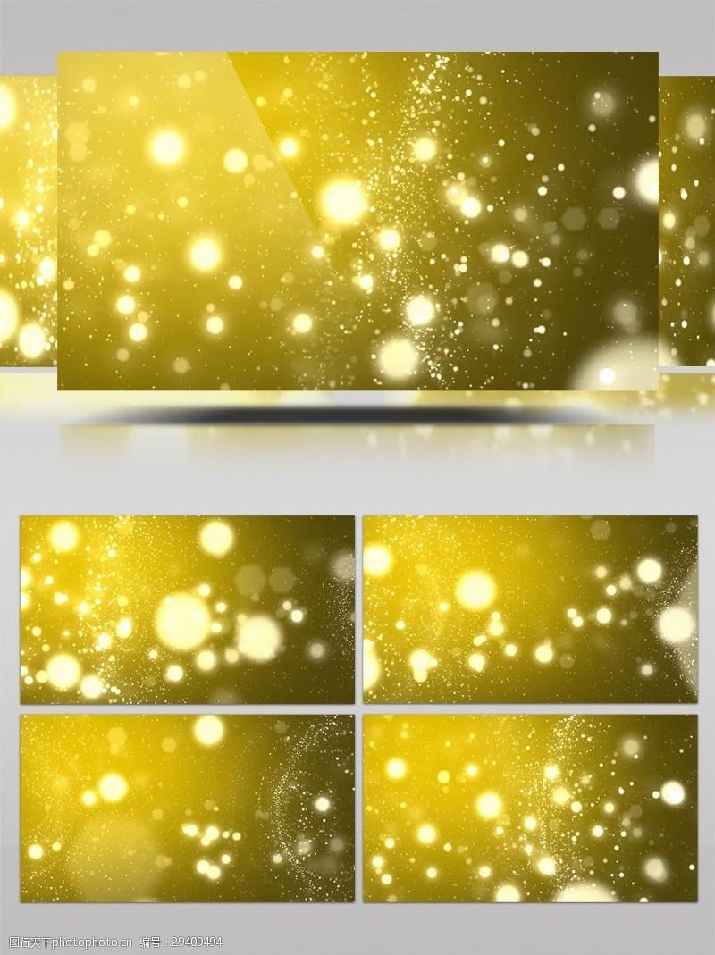 梦幻粒子跟踪光晕特效led视频素材