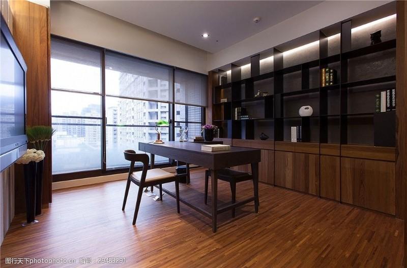 寬敞明亮簡歐書房設計效果圖