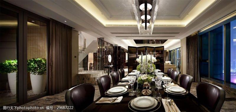 寬敞低奢歐式客廳效果圖