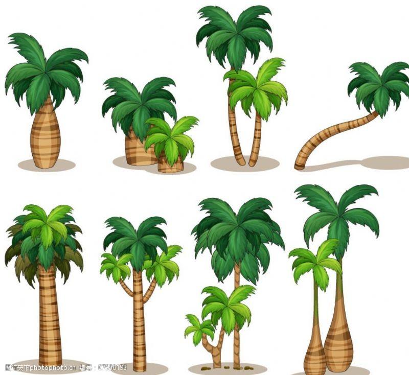 精美椰子树东航图片素材方案建筑设计矢量图片