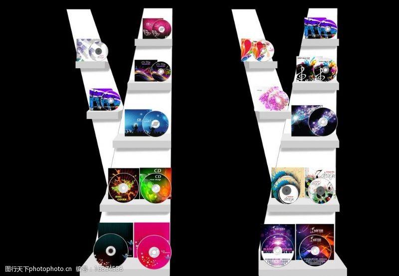材质灯光齐全CD架的设计图片