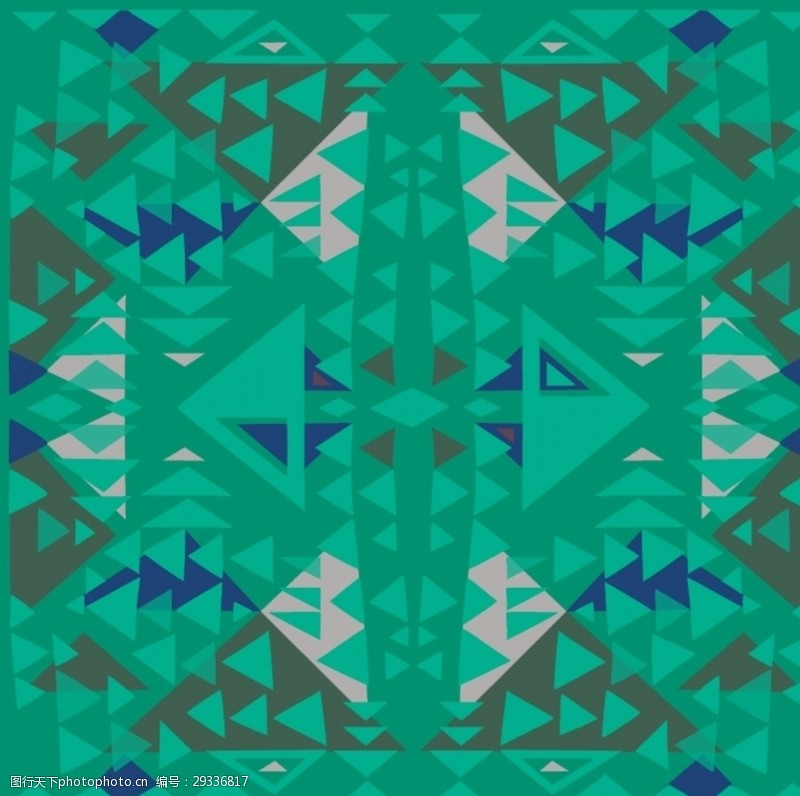 贴布绣数码民族风菱形三角几何布匹图案