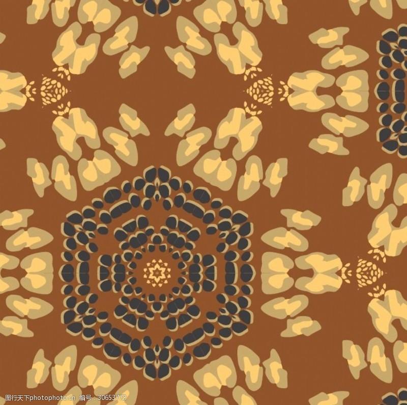 贴布绣提花烧花烂花梭织面料展抽象图案