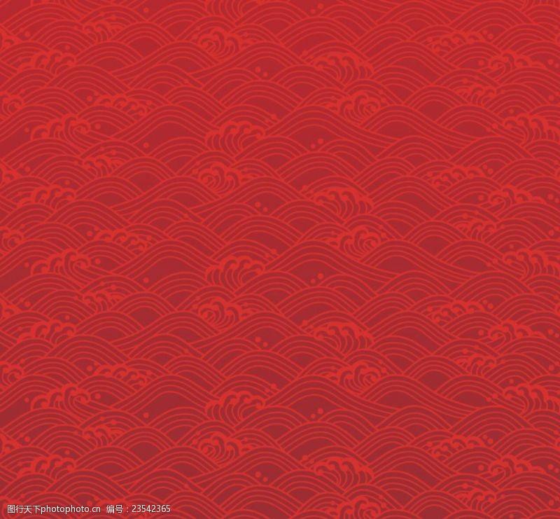 古典时尚设计日式花纹
