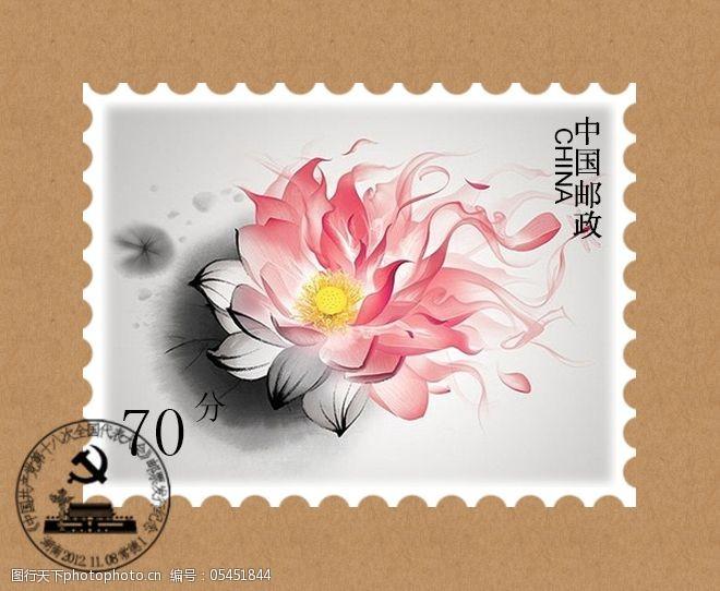 中国风邮票素材