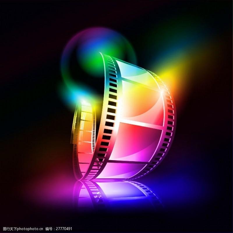 电影元素梦幻胶片图片素材矢量