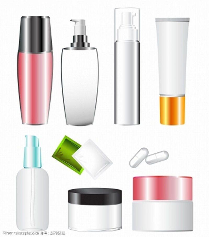 各种化妆品背景