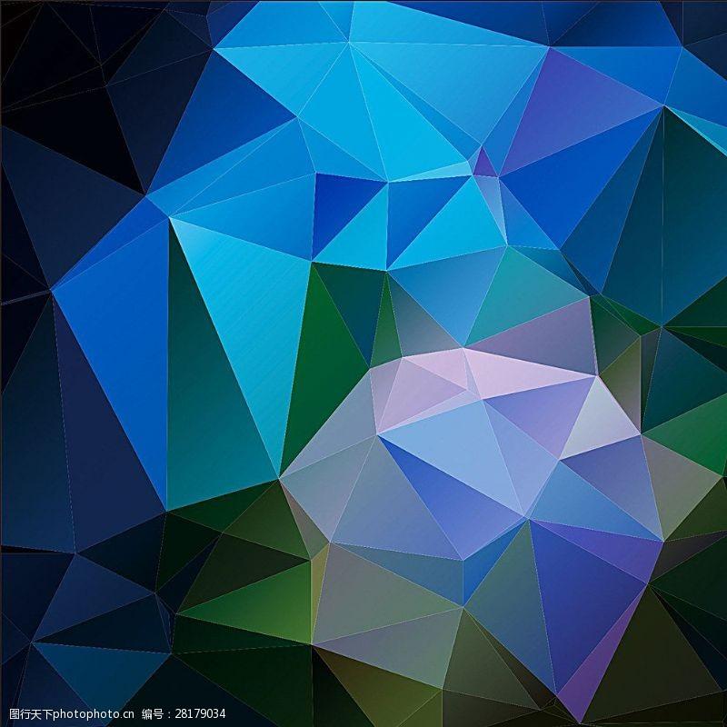水晶模板蓝色背景图片