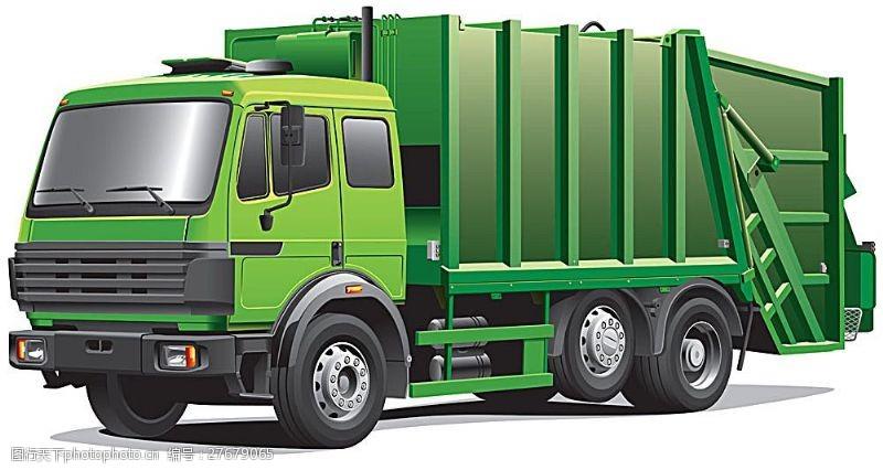 货车模板矢量绿色货车图片