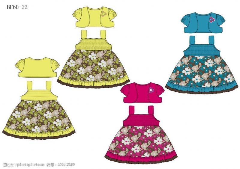 外贸服装设计女童裙子