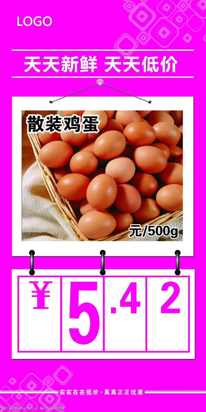 超市鸡蛋价格牌