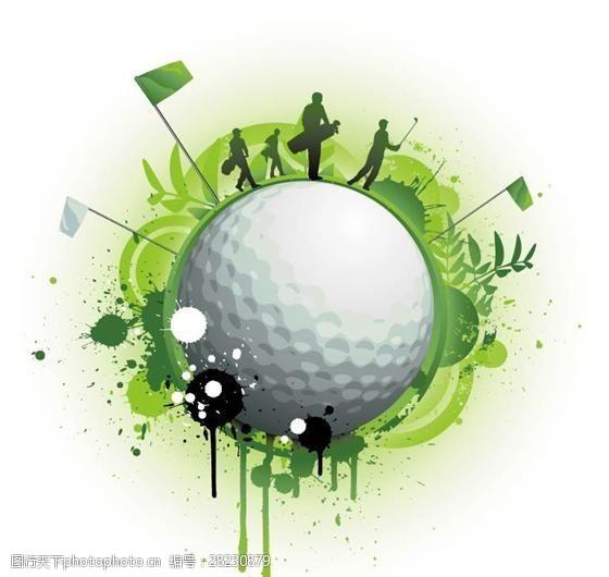 高尔夫与足球主题矢量素材eps格式_04
