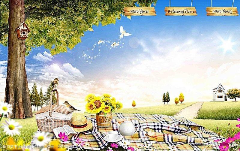 良辰美景游乐园背景图片