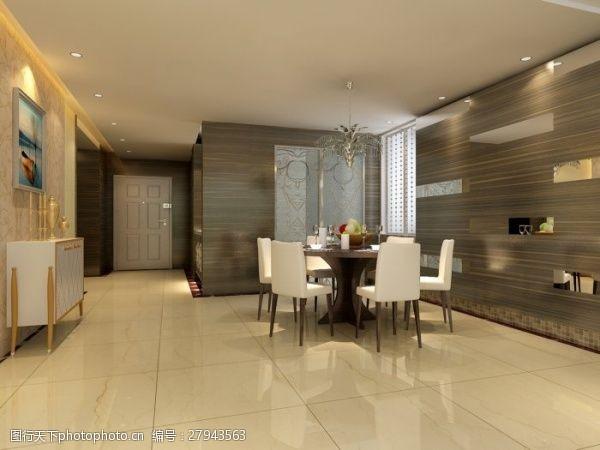 max格式家装餐厅设计效果图