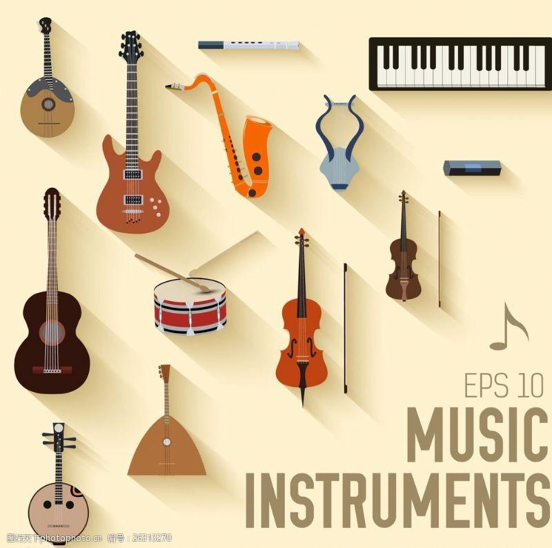 矢量电子琴乐器大全矢量图片