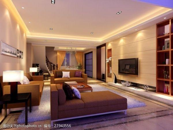 max格式家装客厅设计效果图