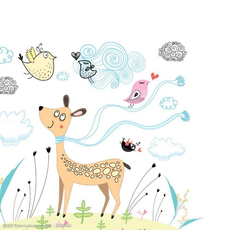 可爱形状卡通背景图片