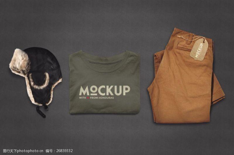衣服和帽子样机设计