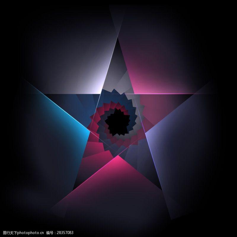 炫彩五角星背景