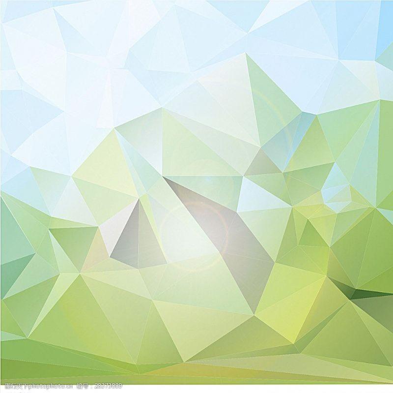 水晶模板清新几何背景图片