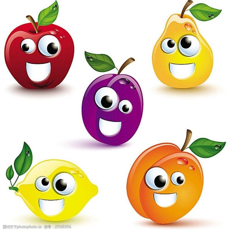 动漫水果可爱的卡通水果