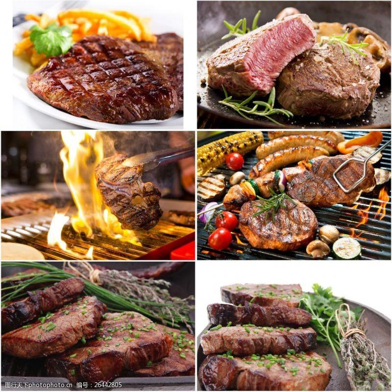 碳火烤肉素材