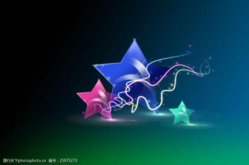炫彩五角星图片
