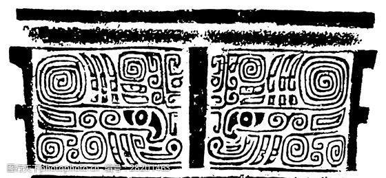 商周时代版画装饰画矢量AI格式_1209