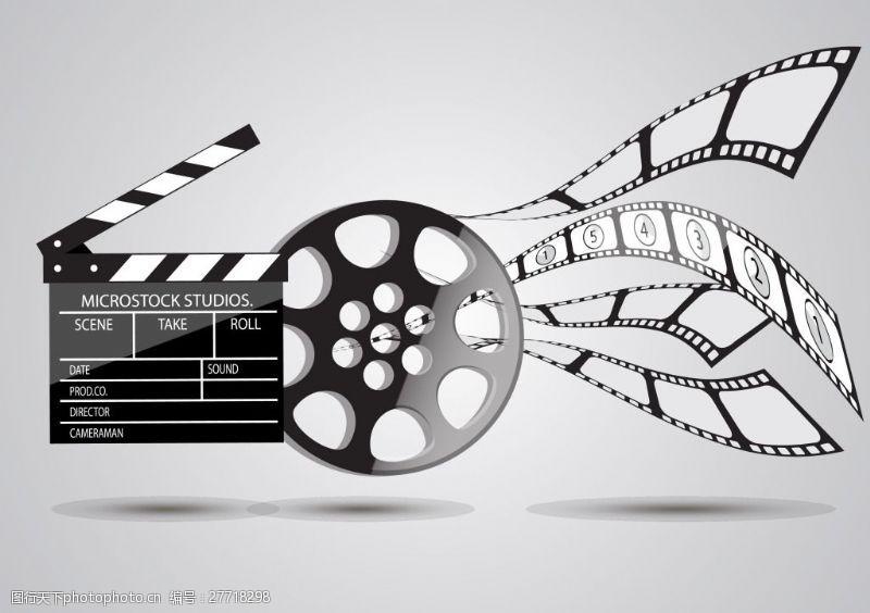 电影元素胶片的场记板