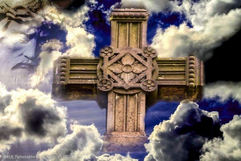 云,基督教,交叉,红十字标志,圣,信仰,耶稣,克里斯蒂,基督