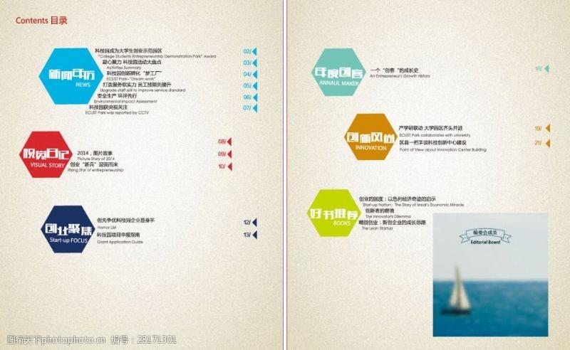 杂志目录设计