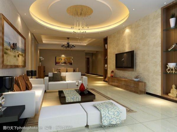 max格式客厅圆顶设计效果图
