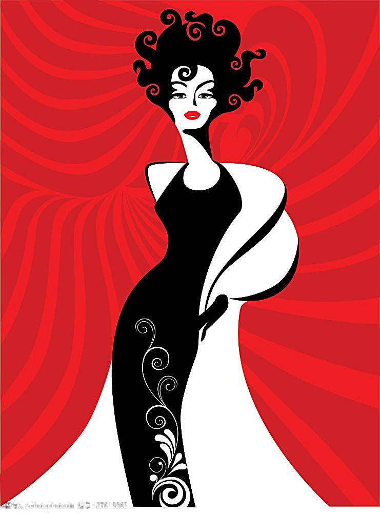 美女曲线曲线背景前性感的气质美女