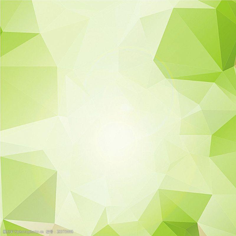 水晶模板绿色背景图片