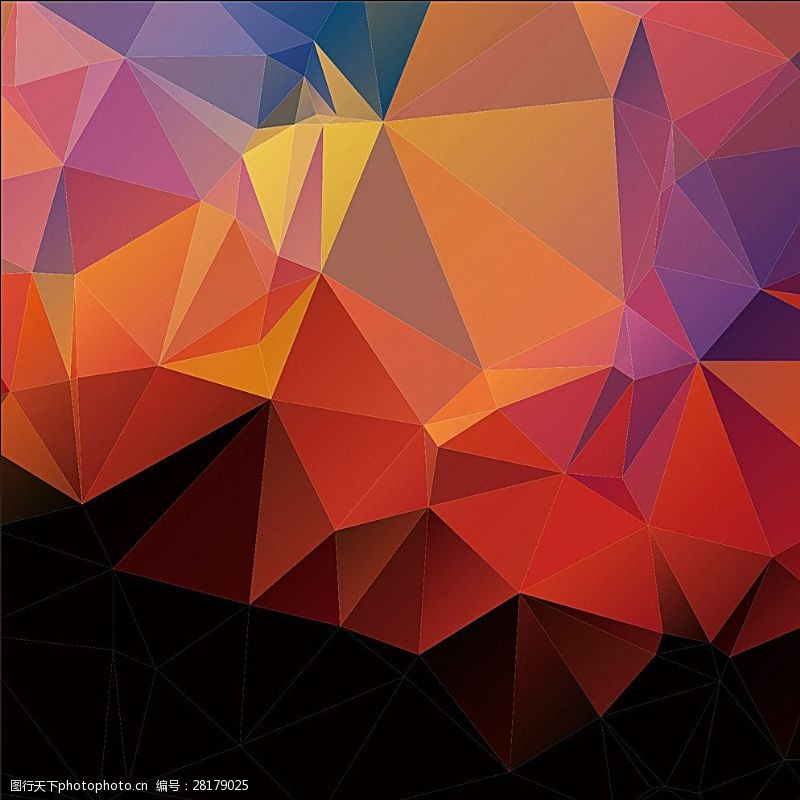 水晶模板红色背景图片