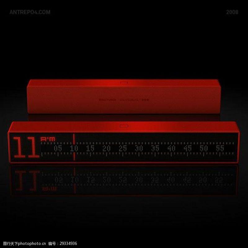 色彩斑斓的现代电子钟设计作品欣赏