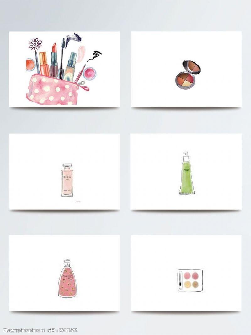 时尚彩妆化妆品插画素材