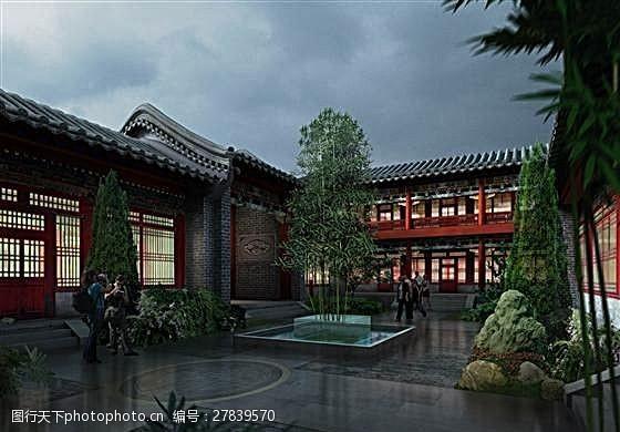 max格式北京安徽会馆三维模型