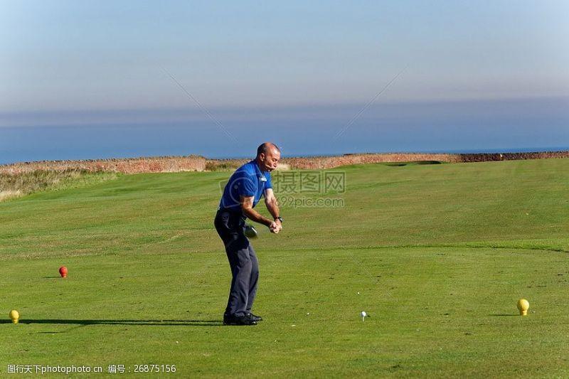 高尔夫挥杆素材