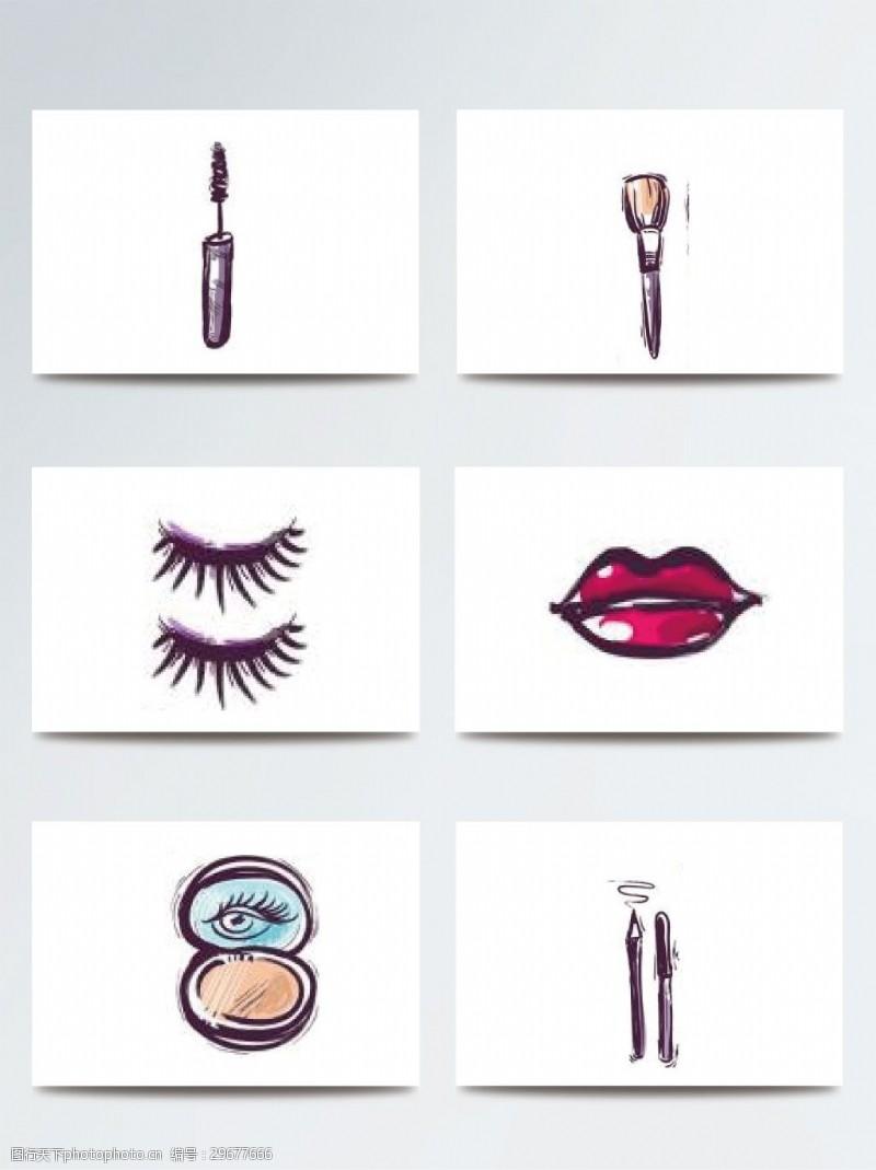美妆彩妆化妆品素材