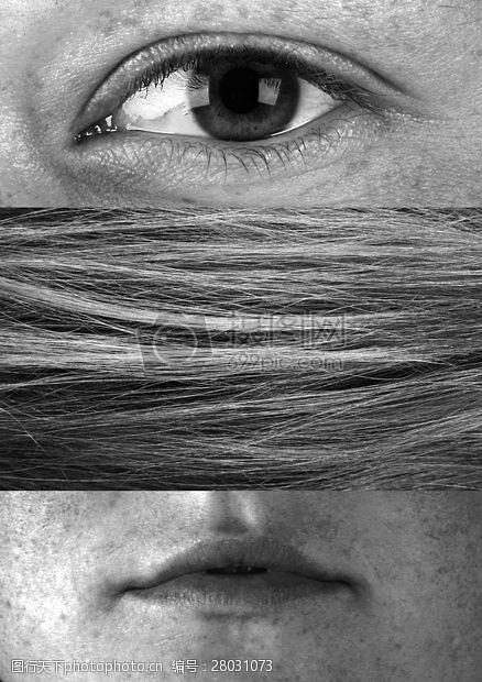 复合材料眼睛和嘴巴