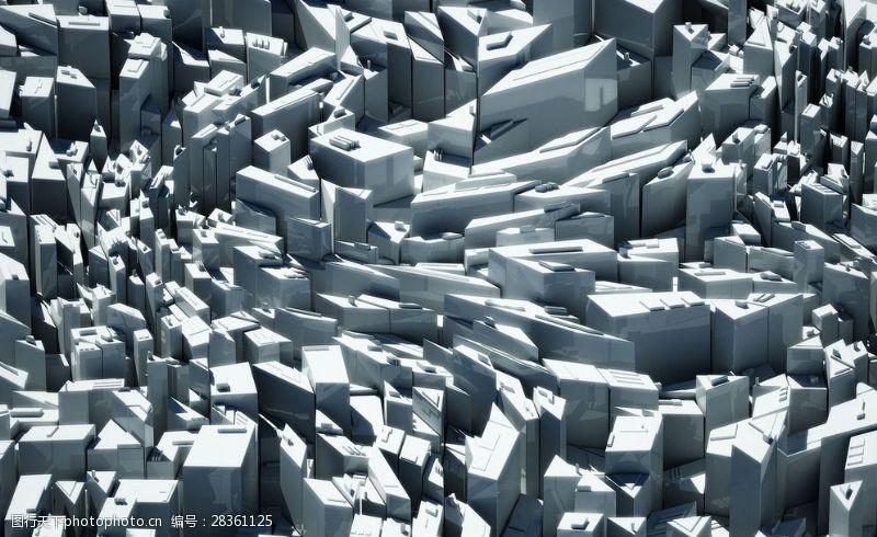 未来感背景三维效果几何体桌面图片