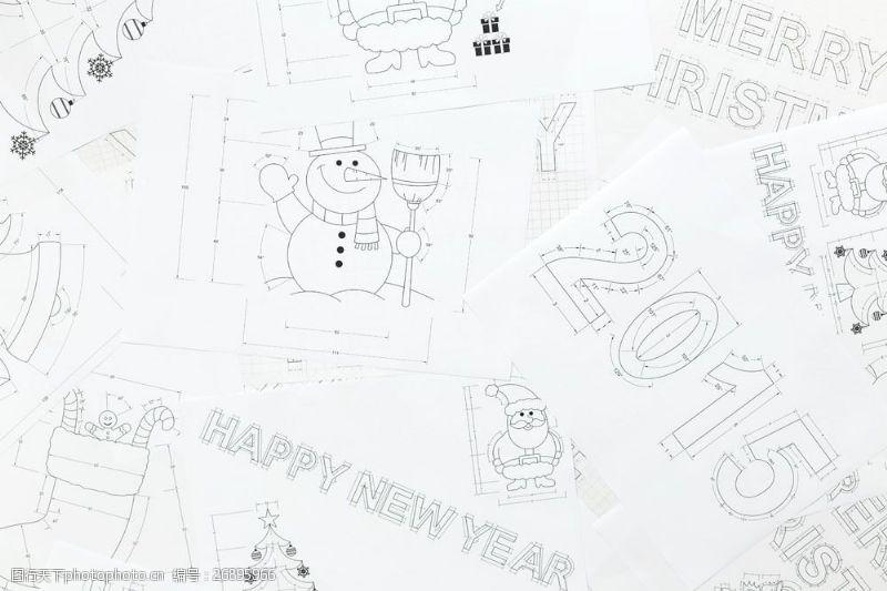 创意手稿图案
