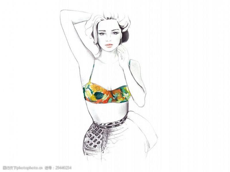 简约手绘服装设计JPG格式