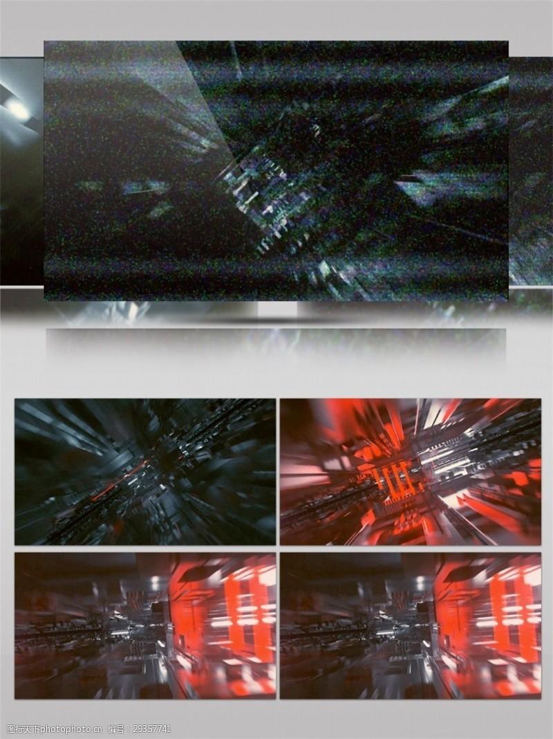 灰红色高建筑视频素材