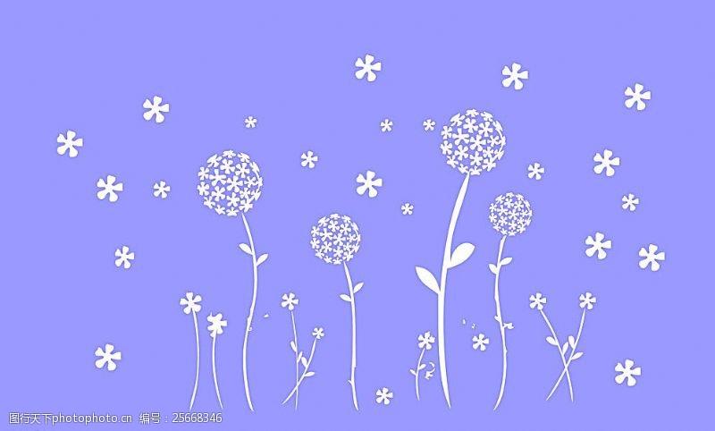 五叶草碎花图片