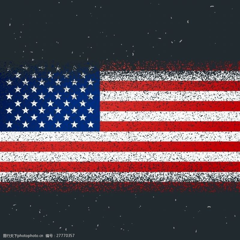 美国国旗矢量素材设计